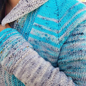 The Comfort Fade Cardi Knitting Kit by Andrea Mowry - Baah Yarn Kits