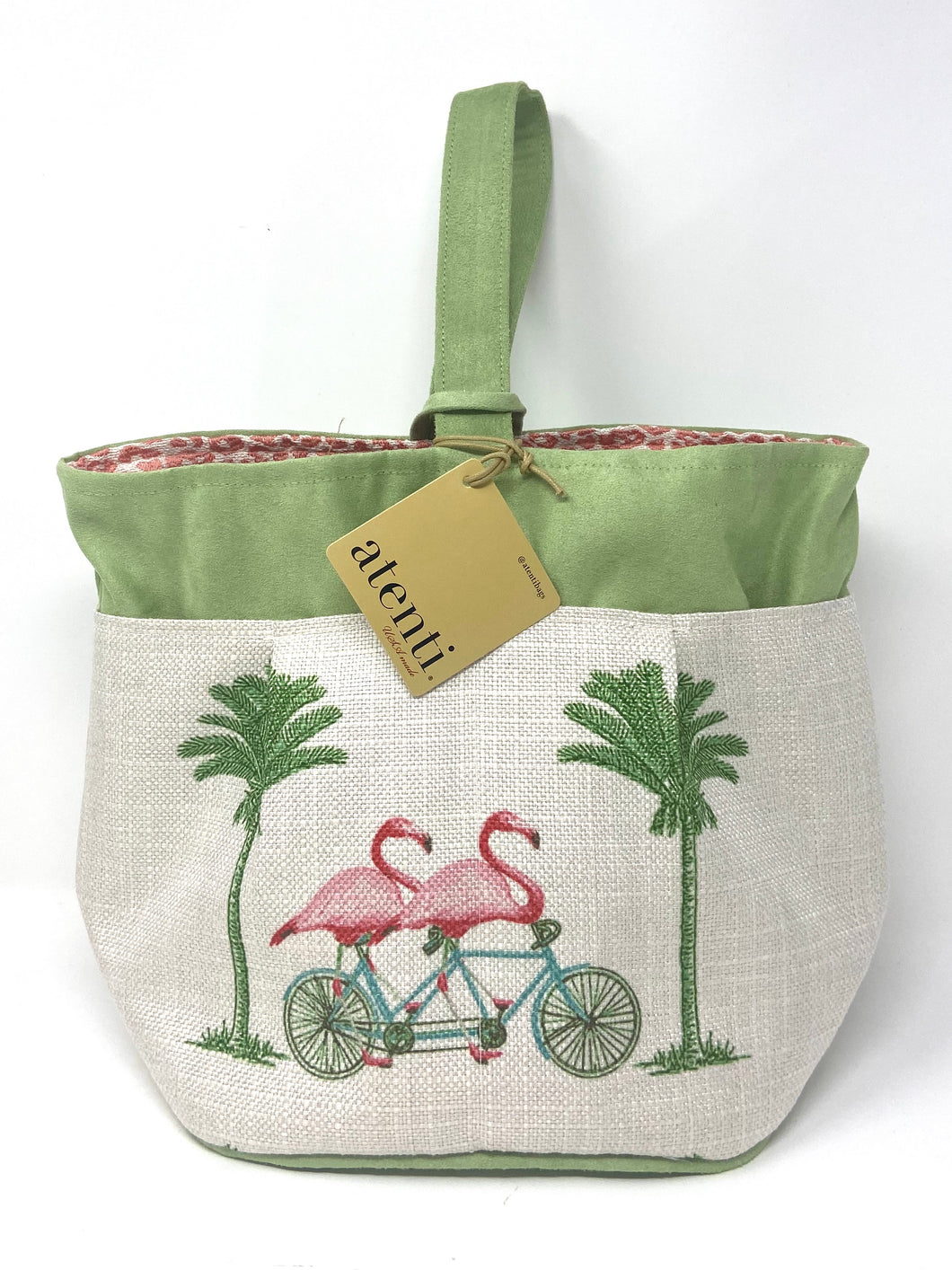 Atenti Flamingo Tall Caddy Knitting Bag
