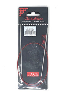 ChiaoGoo Red Lace Circular Needles - US 2 - 24 Inches