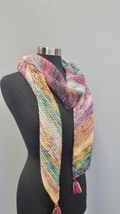 Friends First Knit Scarf Knitting Kit Baah Yarn Pattern