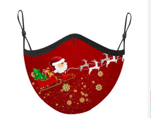 Santa's Sleigh Adjustable Face Covering