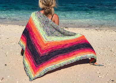 Baja Wrap Knitting Kit by Baah Yarn