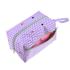 purple knitting bag