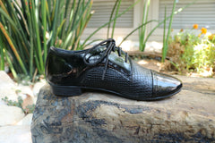 Black Oxford , Women Shoes, Leather Shoes, Also Large Size, HandMade