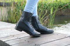 Handmade Lace Up Leather Boots, Combat Boots Women