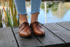 Women Shoes Oxford, Flat Shoes, HandMade