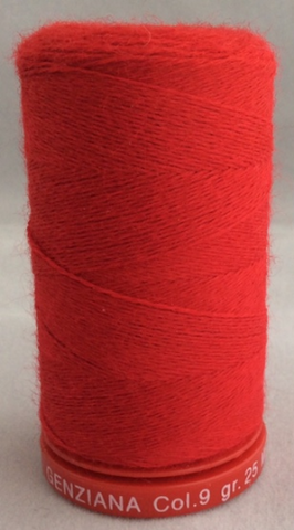Genziana Wool Thread - Christmas Red 009