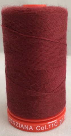 Genziana Wool Thread - Burgundy 011c
