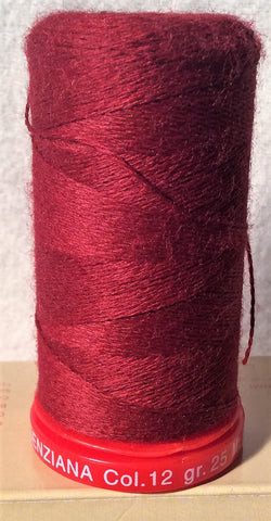 Genziana Wool Thread - Wine Red 012