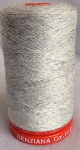 Genziana Wool Thread - Pearl Grey 014