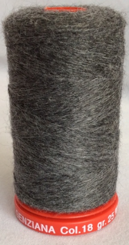 Genziana Wool Thread - Charcoal 018