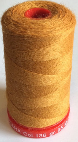 Genziana Wool Thread - Old Gold 136
