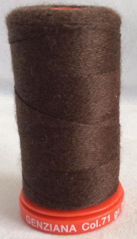 Genziana Wool Thread - Dark Chocolate 071