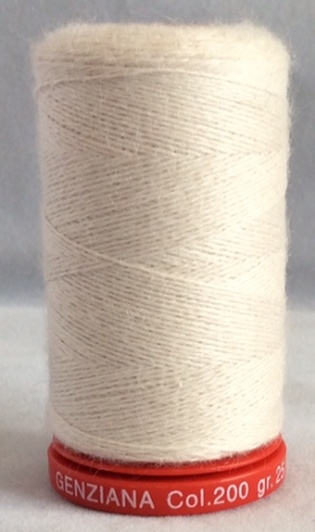 Genziana Wool Thread - Bone 200