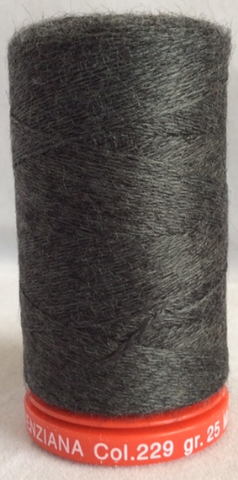 Genziana Wool Thread - Dark Charcoal 229