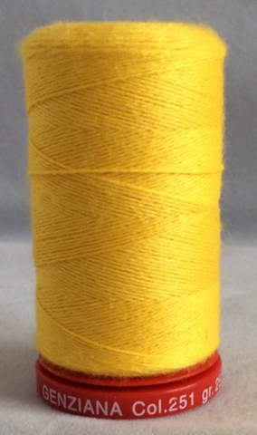 Genziana Wool Thread - Lemon 251