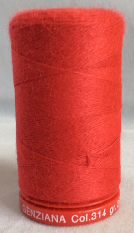 Genziana Wool Thread - Fire Red 314