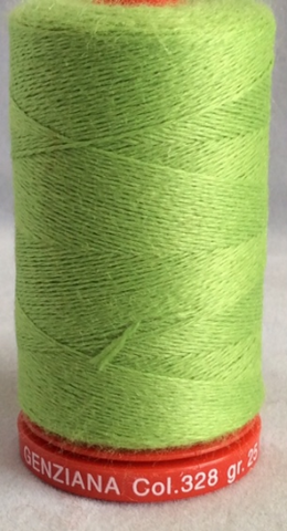 Genziana Wool Thread - Lime Green 328