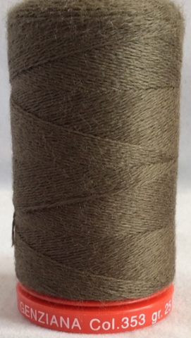 Genziana Wool Thread - Dark Olive 353