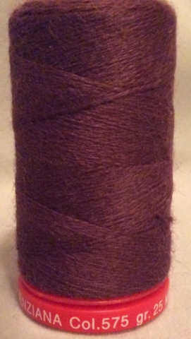 Genziana Wool Thread - Dark Mauve 575