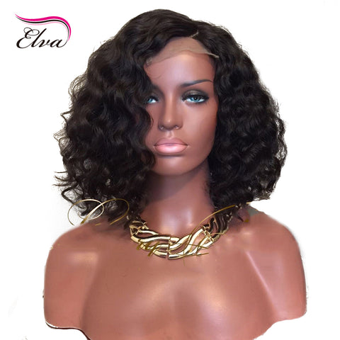 Hair Extensions & Wigs 13x6 Lace Front Human Hair Wigs Pre-plucked Natural Hairline With Baby Hair Glueless Brazilian Remy Hair 150% Density Elva Hair Lace Front Wigs