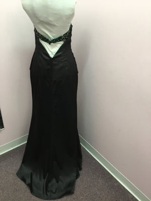 Strapless Emerald Special Occasion Dress