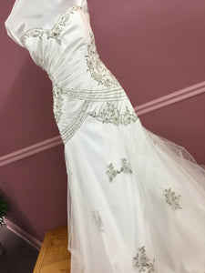 Mermaid Style Gown with Beading