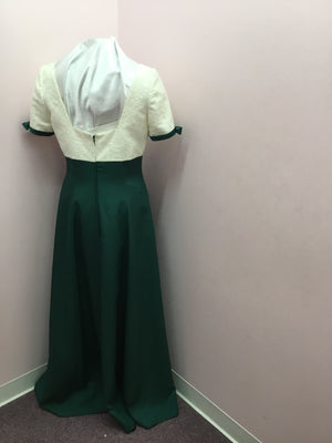 Short Sleeve Lace/Green Special Occasion Gown