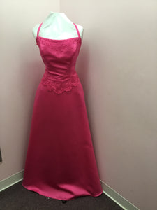 Hot Pink Halter Gown
