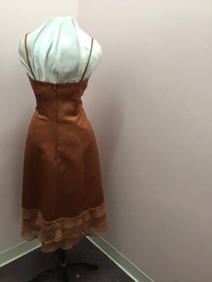 Copper Tea Length Dress
