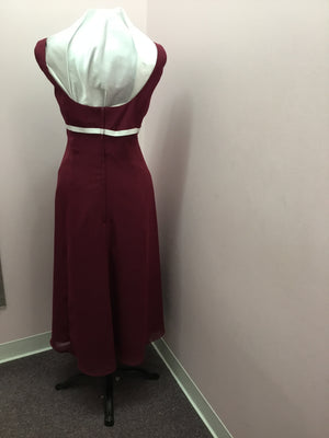 Simple Burgundy Gown