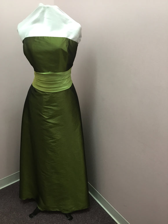 Green Strapless Gown
