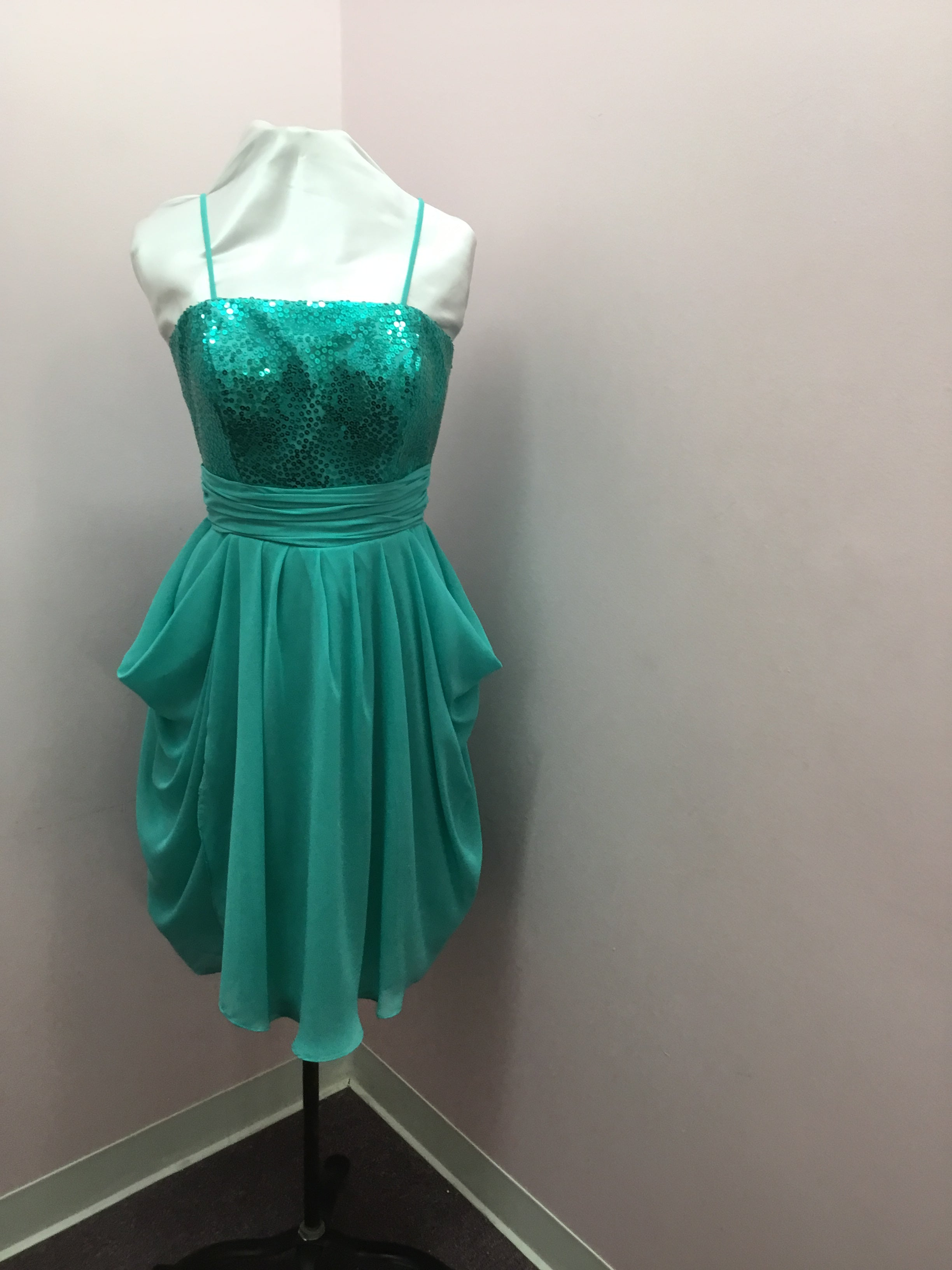 Sequin Turquoise Dress