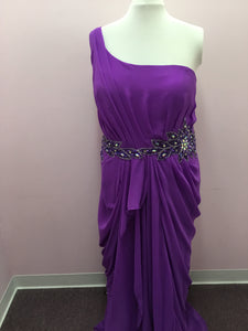 Purple One Shoulder Formal Dress
