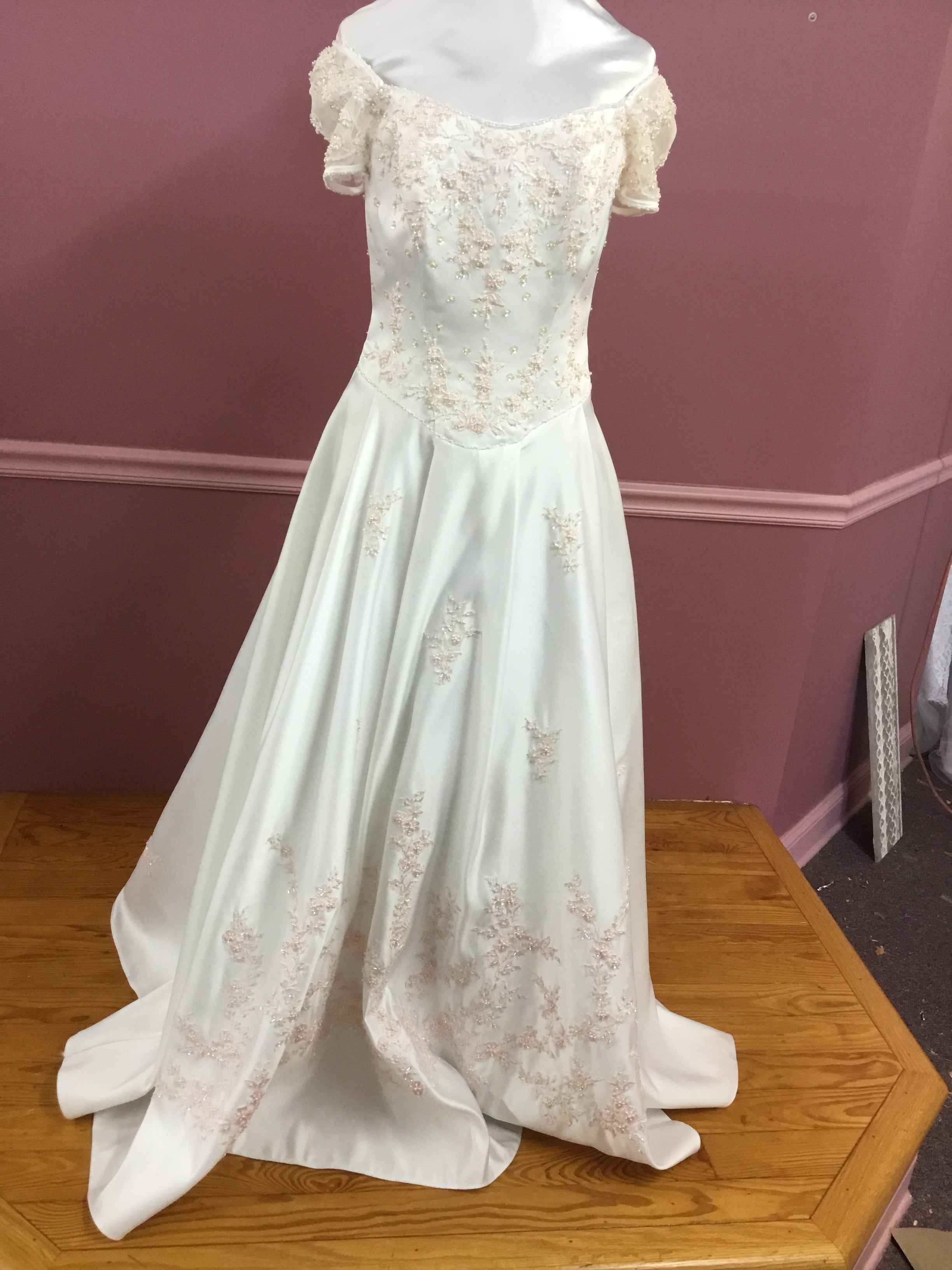 Short Sleeve Wedding Gown