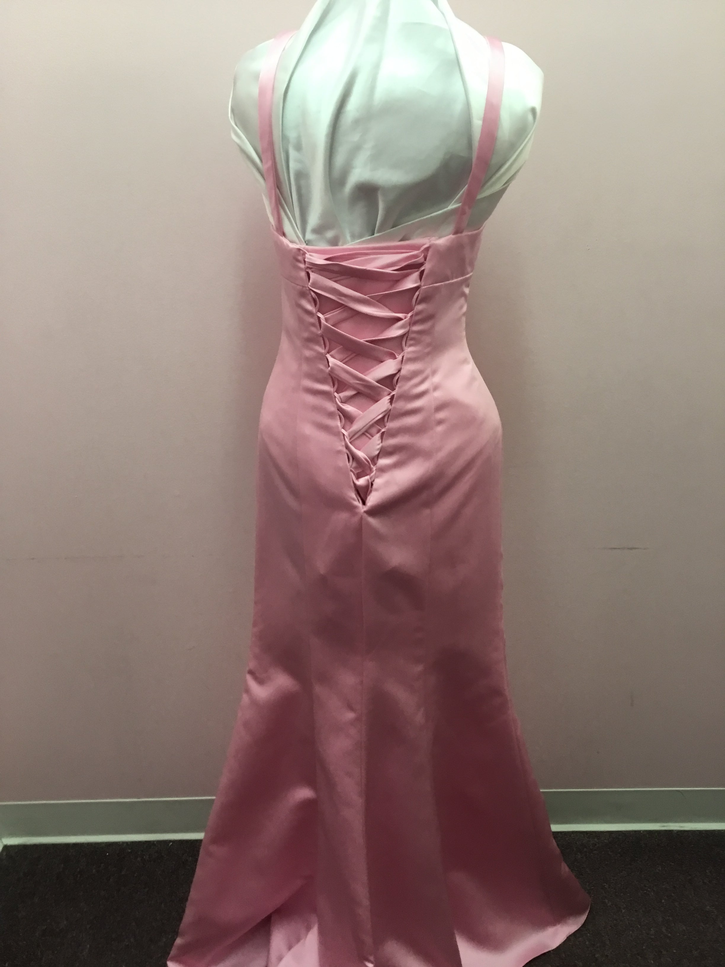 Pink Halter Top Formal Dress