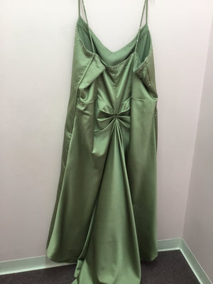 Beaded Green Cocktail Dress