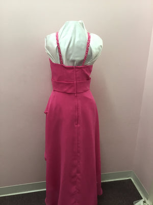 Hi Low Magenta Formal Dress