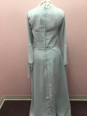 Long Sleeve Blue Gown
