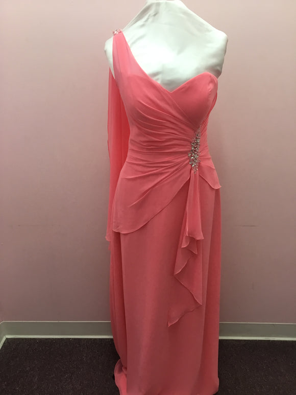 Pink One Shoulder Gown