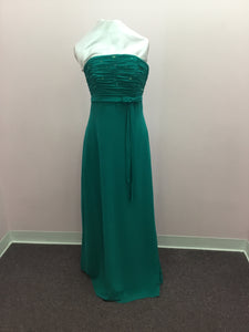 Strapless Teal Dress