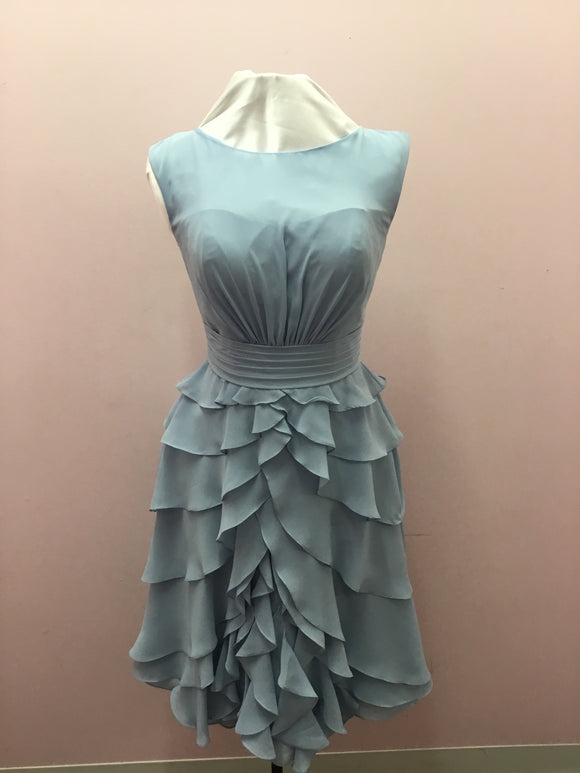 Light Blue Ruffle Dress