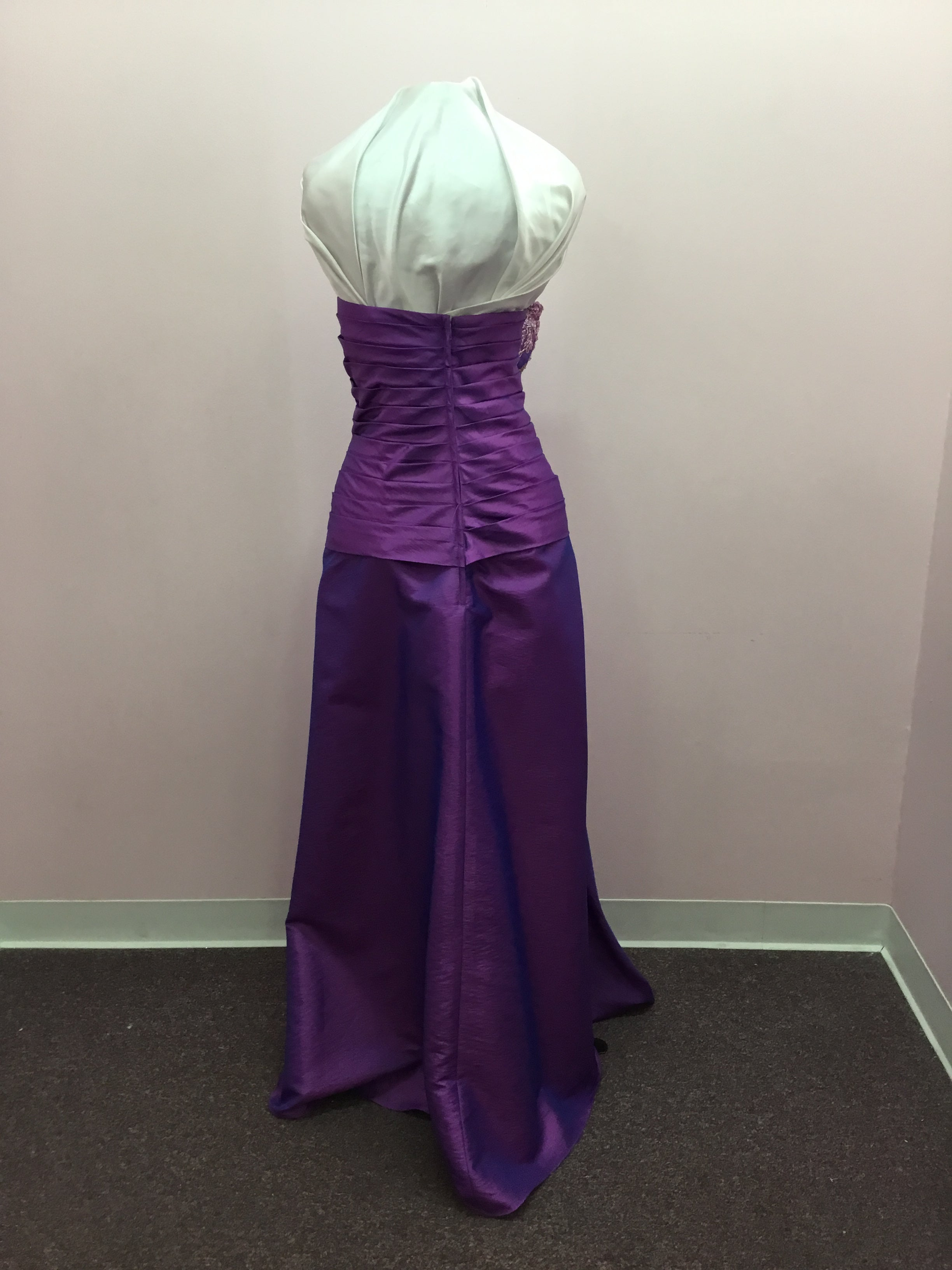 Strapless Purple Gown