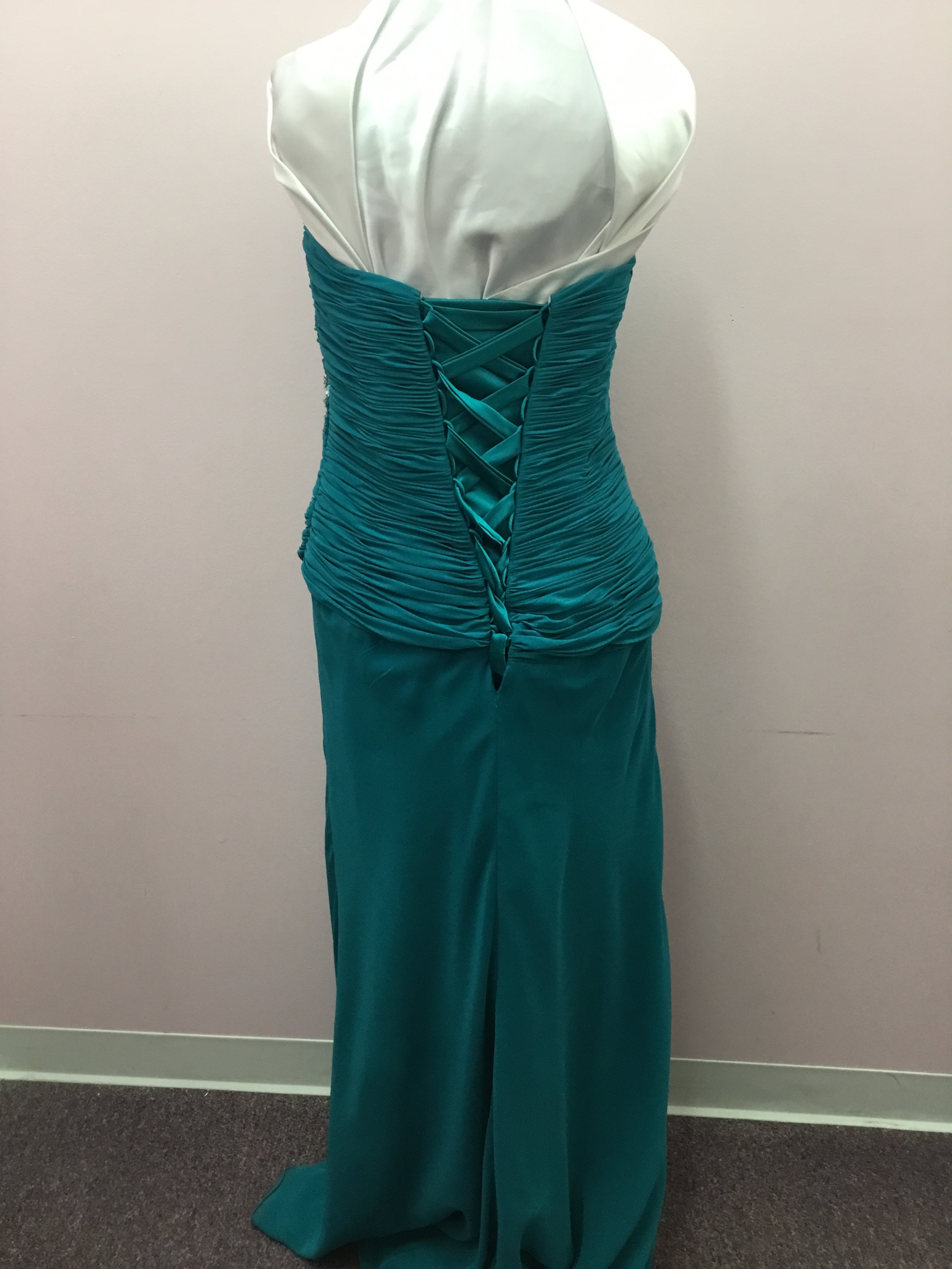 Strapless Turquoise Gown