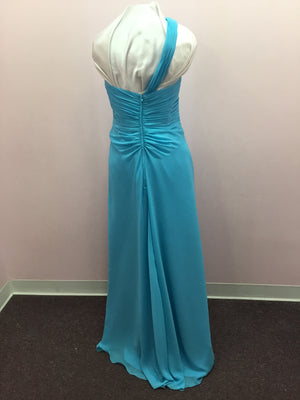 Blue One Shoulder Gown