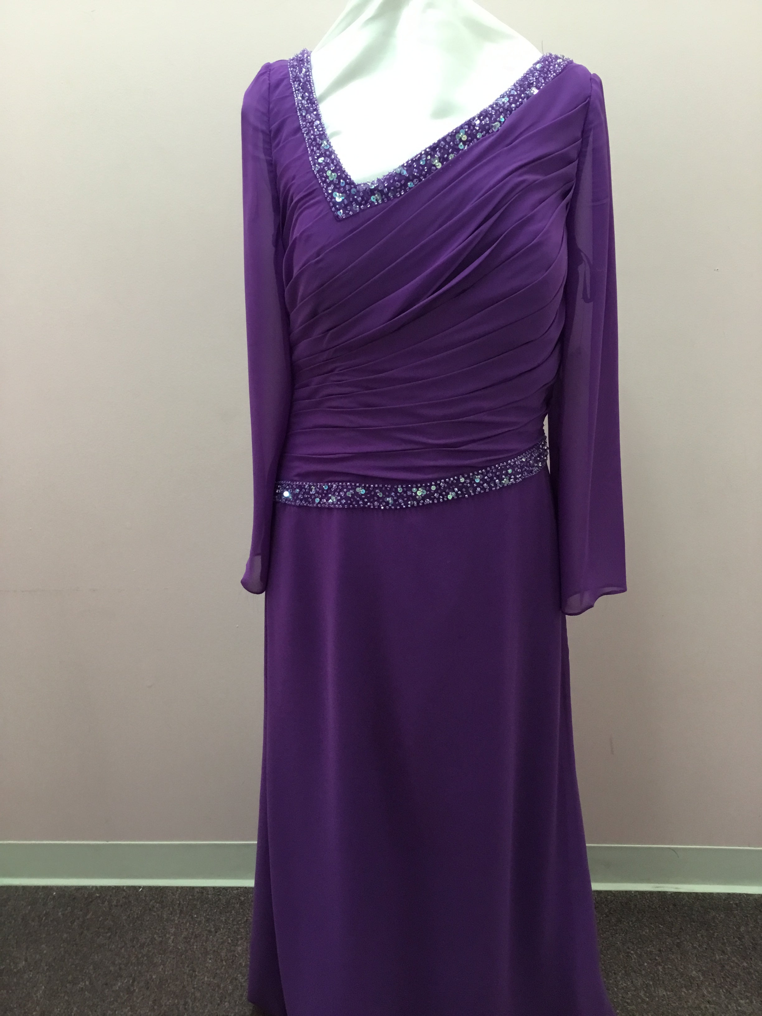 Long Sleeve Purple Gown