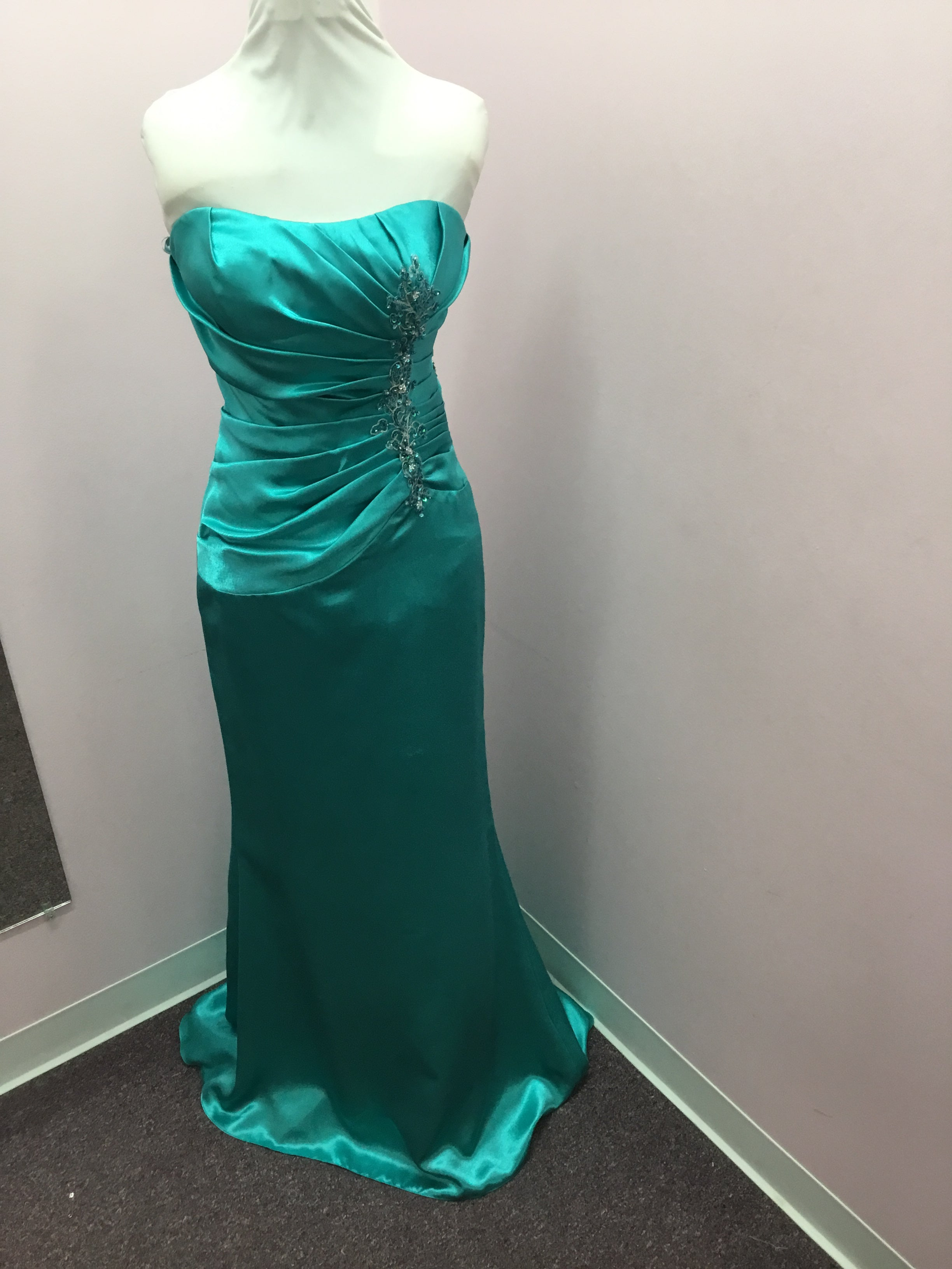 Peacock Strapless Dress