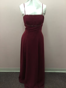 Burgundy Beaded Formal Dress