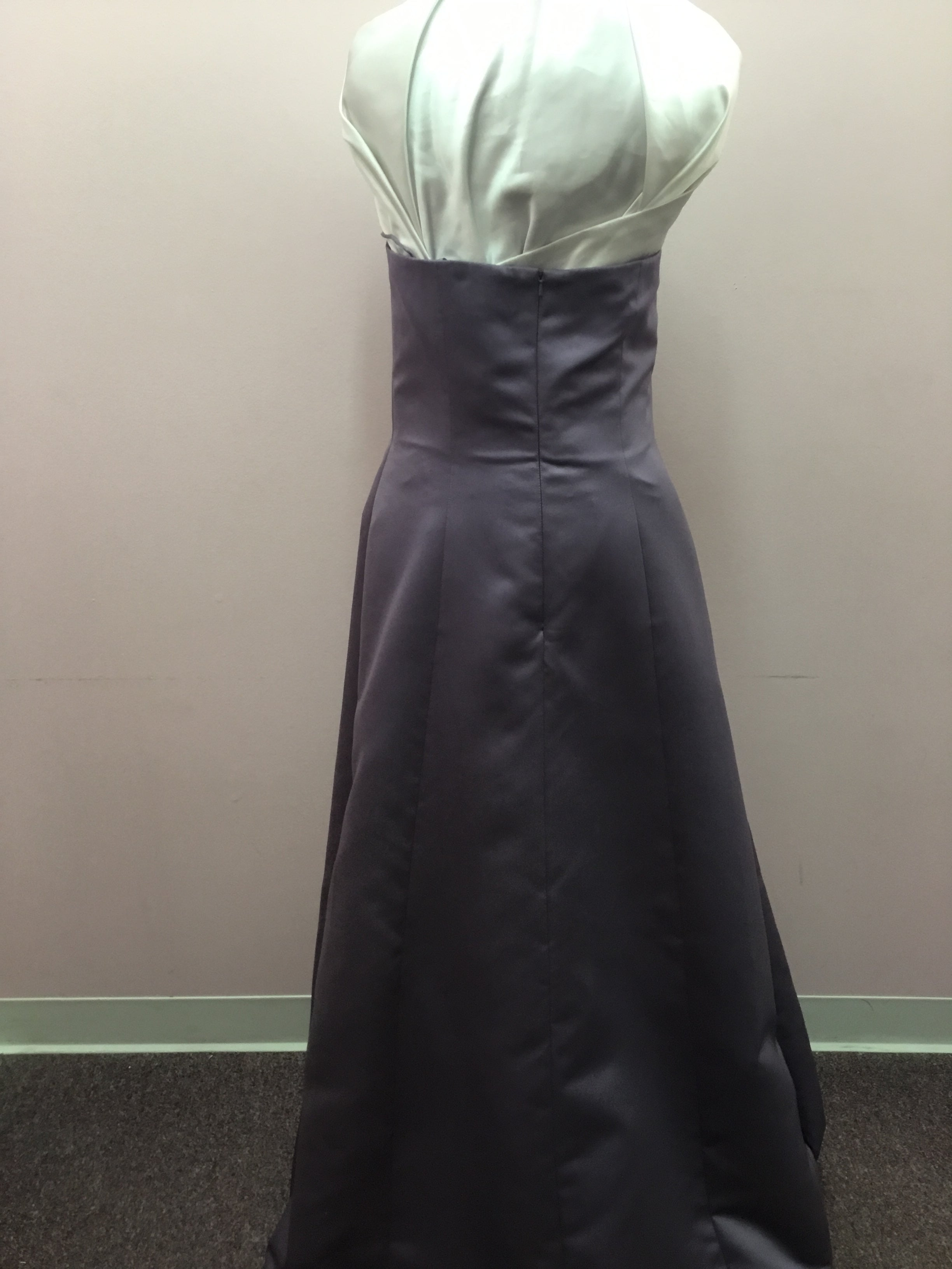 Strapless Dark Purple Gown