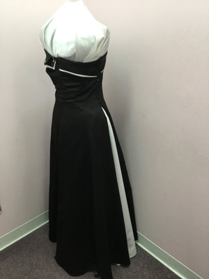 Strapless Black and White Gown
